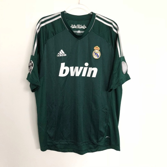 aceb17b4b adidas Other - Adidas Real Madrid 110 Anos Benzema Green Jersey